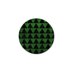 Triangle2 Black Marble & Green Leather Golf Ball Marker (4 Pack)
