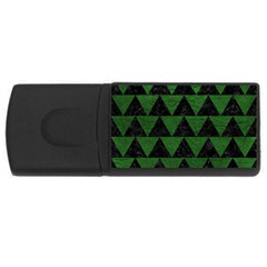 Triangle2 Black Marble & Green Leather Rectangular Usb Flash Drive