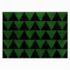 Triangle2 Black Marble & Green Leather Large Glasses Cloth (2 Side)