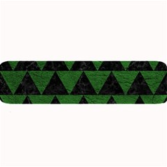 Triangle2 Black Marble & Green Leather Large Bar Mats
