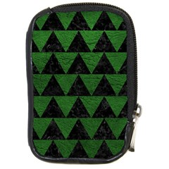 Triangle2 Black Marble & Green Leather Compact Camera Cases
