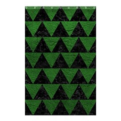 Triangle2 Black Marble & Green Leather Shower Curtain 48  X 72  (small)