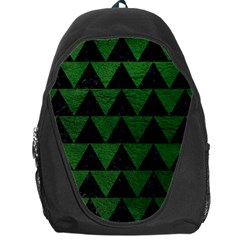 Triangle2 Black Marble & Green Leather Backpack Bag