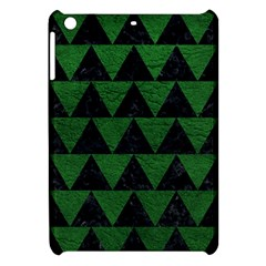 Triangle2 Black Marble & Green Leather Apple Ipad Mini Hardshell Case