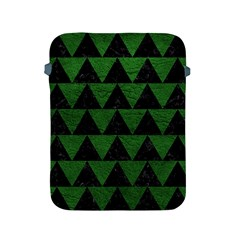 Triangle2 Black Marble & Green Leather Apple Ipad 2/3/4 Protective Soft Cases