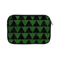 Triangle2 Black Marble & Green Leather Apple Ipad Mini Zipper Cases