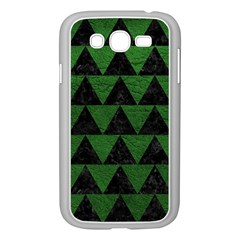 Triangle2 Black Marble & Green Leather Samsung Galaxy Grand Duos I9082 Case (white)