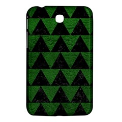 Triangle2 Black Marble & Green Leather Samsung Galaxy Tab 3 (7 ) P3200 Hardshell Case