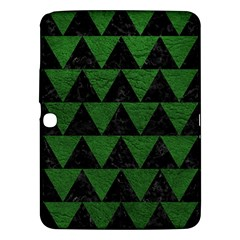Triangle2 Black Marble & Green Leather Samsung Galaxy Tab 3 (10 1 ) P5200 Hardshell Case