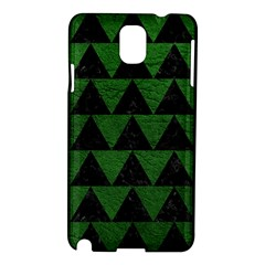 Triangle2 Black Marble & Green Leather Samsung Galaxy Note 3 N9005 Hardshell Case