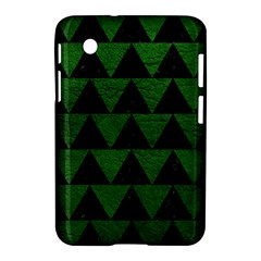 Triangle2 Black Marble & Green Leather Samsung Galaxy Tab 2 (7 ) P3100 Hardshell Case