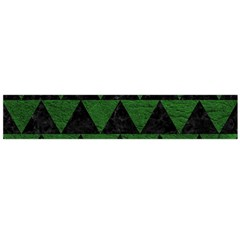 Triangle2 Black Marble & Green Leather Flano Scarf (large)