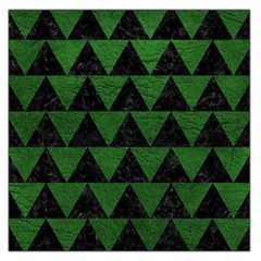 Triangle2 Black Marble & Green Leather Large Satin Scarf (square)