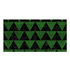 Triangle2 Black Marble & Green Leather Satin Shawl