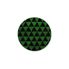 Triangle3 Black Marble & Green Leather Golf Ball Marker (4 Pack)