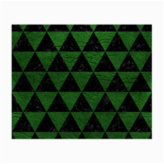 Triangle3 Black Marble & Green Leather Small Glasses Cloth