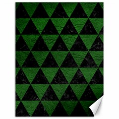 Triangle3 Black Marble & Green Leather Canvas 12  X 16