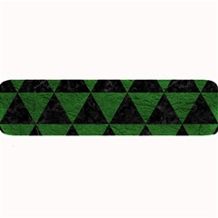 Triangle3 Black Marble & Green Leather Large Bar Mats