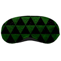Triangle3 Black Marble & Green Leather Sleeping Masks