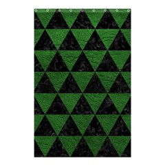 Triangle3 Black Marble & Green Leather Shower Curtain 48  X 72  (small)