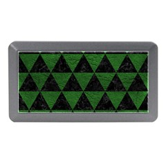 Triangle3 Black Marble & Green Leather Memory Card Reader (mini)
