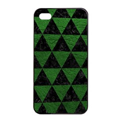 Triangle3 Black Marble & Green Leather Apple Iphone 4/4s Seamless Case (black)