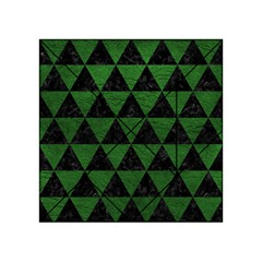 Triangle3 Black Marble & Green Leather Acrylic Tangram Puzzle (4  X 4 )