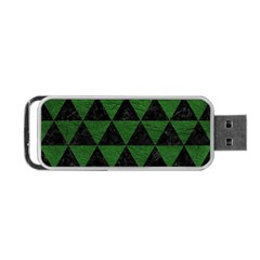 Triangle3 Black Marble & Green Leather Portable Usb Flash (two Sides)