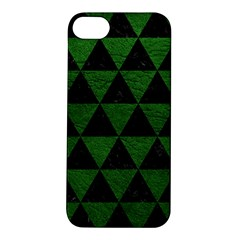 Triangle3 Black Marble & Green Leather Apple Iphone 5s/ Se Hardshell Case
