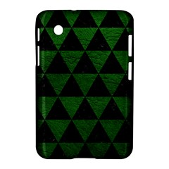 Triangle3 Black Marble & Green Leather Samsung Galaxy Tab 2 (7 ) P3100 Hardshell Case
