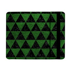 Triangle3 Black Marble & Green Leather Samsung Galaxy Tab Pro 8 4  Flip Case