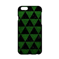 Triangle3 Black Marble & Green Leather Apple Iphone 6/6s Hardshell Case
