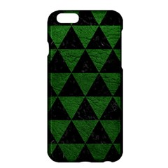 Triangle3 Black Marble & Green Leather Apple Iphone 6 Plus/6s Plus Hardshell Case