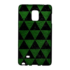 Triangle3 Black Marble & Green Leather Galaxy Note Edge