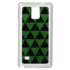 Triangle3 Black Marble & Green Leather Samsung Galaxy Note 4 Case (white)