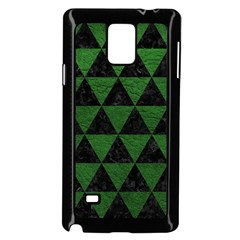 Triangle3 Black Marble & Green Leather Samsung Galaxy Note 4 Case (black)