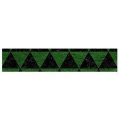 Triangle3 Black Marble & Green Leather Flano Scarf (small)