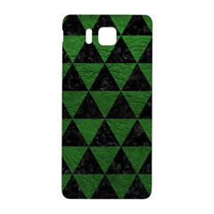Triangle3 Black Marble & Green Leather Samsung Galaxy Alpha Hardshell Back Case