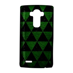 Triangle3 Black Marble & Green Leather Lg G4 Hardshell Case