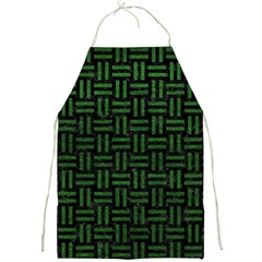 Woven1 Black Marble & Green Leather Full Print Aprons