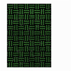 Woven1 Black Marble & Green Leather Small Garden Flag (two Sides)