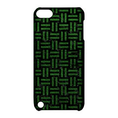 Woven1 Black Marble & Green Leather Apple Ipod Touch 5 Hardshell Case With Stand