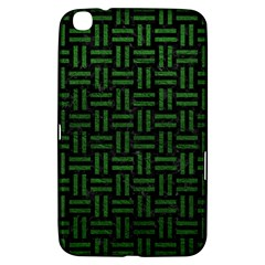 Woven1 Black Marble & Green Leather Samsung Galaxy Tab 3 (8 ) T3100 Hardshell Case