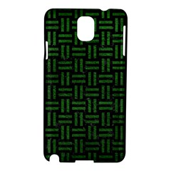 Woven1 Black Marble & Green Leather Samsung Galaxy Note 3 N9005 Hardshell Case