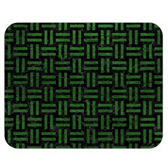 Woven1 Black Marble & Green Leather Double Sided Flano Blanket (medium)