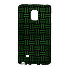 Woven1 Black Marble & Green Leather Galaxy Note Edge