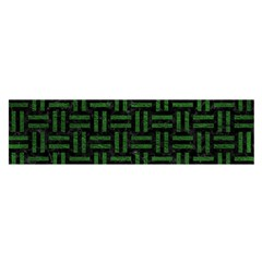 Woven1 Black Marble & Green Leather Satin Scarf (oblong)