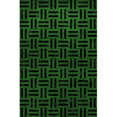 Woven1 Black Marble & Green Leather (r) 5 5  X 8 5  Notebooks