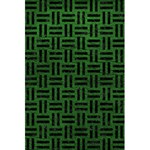 WOVEN1 BLACK MARBLE & GREEN LEATHER (R) 5.5  x 8.5  Notebooks Front Cover