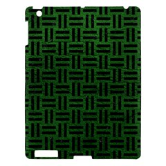 Woven1 Black Marble & Green Leather (r) Apple Ipad 3/4 Hardshell Case
